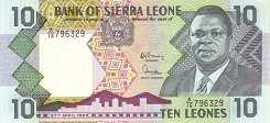 Сьерра-Леоне: 10 леоне 1988 г.