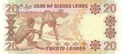 Сьерра-Леоне: 20 леоне 1988 г.