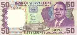 Сьерра-Леоне: 50 леоне 1988-89 г.