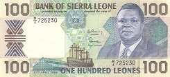 Сьерра-Леоне: 100 леоне 1988-90 г.