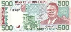 Сьерра-Леоне: 500 леоне 1991 г.