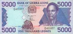 Сьерра-Леоне: 5000 леоне 1993-98 г.