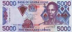 Сьерра-Леоне: 5000 леоне 2002-06 г.