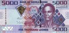 Сьерра-Леоне: 5000 леоне 2010-15 г.