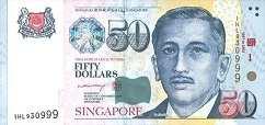 Сингапур: 50 долларов (юбилейная) 2002 г.