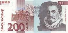 Словения: 200 толаров 2001 г.