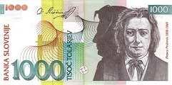 Словения: 1000 толаров 2000 г.