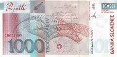Словения: 1000 толаров 2000 (2001) г. (юбилейная)