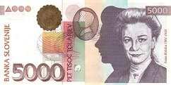 Словения: 5000 толаров 2000 г.