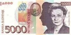 Словения: 5000 толаров 2002 г.