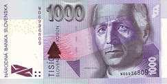 Словакия: 1000 крон 2000-2007 г.