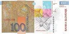 Словения: 100 толаров 1992 (2001) г. (юбилейная)