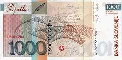 Словения: 1000 толаров 1992-2005 г.