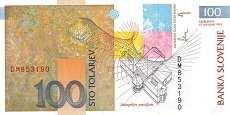 Словения: 100 толаров 1992-2004 г.