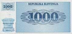 Словения: 1000 толаров (1992 г.)