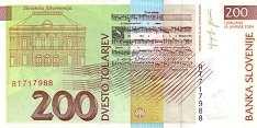 Словения: 200 толаров 1992-2004 г.