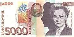 Словения: 5000 толаров 2000-2004 г.