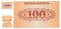 Словения: 100 толаров (1990 г.)