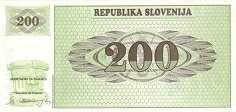 Словения: 200 толаров (1990 г.)