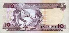 Соломоновы о-ва: 10 долларов (2004-11 г.)