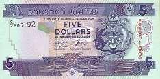 Соломоновы о-ва: 5 долларов (2004-11 г.)