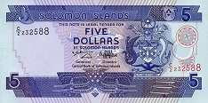 Соломоновы о-ва: 5 долларов (1997 г.)