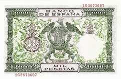 Испания: 1000 песет 1957 г.