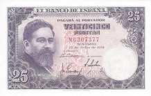 Испания: 25 песет 1954 г.