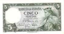 Испания: 5 песет 1954 г.