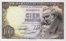 Испания: 100 песет 1946г.