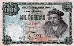 Испания: 1000 песет 1946 г.