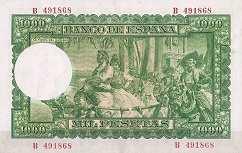 Испания: 1000 песет 1951 г.