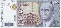 Испания: 10000 песет 1992 г.