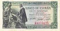 Испания: 5 песет 1945 г.