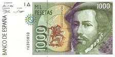 Испания: 1000 песет 1992 г.
