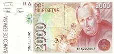 Испания: 2000 песет 1992 г.