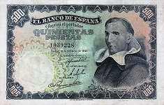 Испания: 500 песет 1946 г.
