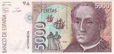 Испания: 5000 песет 1992 г.