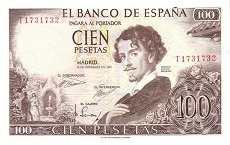 Испания: 100 песет 1965 г.