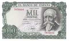 Испания: 1000 песет 1971 г.
