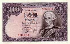 Испания: 5000 песет 1976 г.