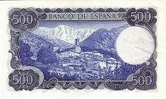 Испания: 500 песет 1971 г.