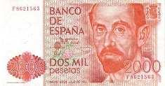 Испания: 2000 песет 1980 г.