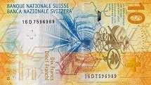 Швейцария: 10 франков 2016-17 г.