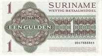 Суринам: 1 гульден 1982-86 г.