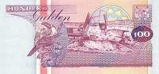 Суринам: 100 гульденов 1991-98 г.