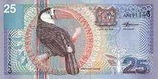Суринам: 25 гульденов 2000 г.