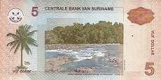 Суринам: 5 долларов 2004-09 г.