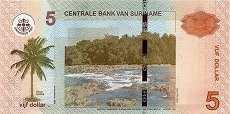Суринам: 5 долларов 2010-12 г.