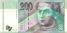 Словакия: 200 крон 1999 г.